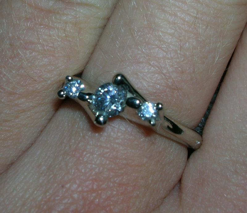 Engagement Ring with Side Stones