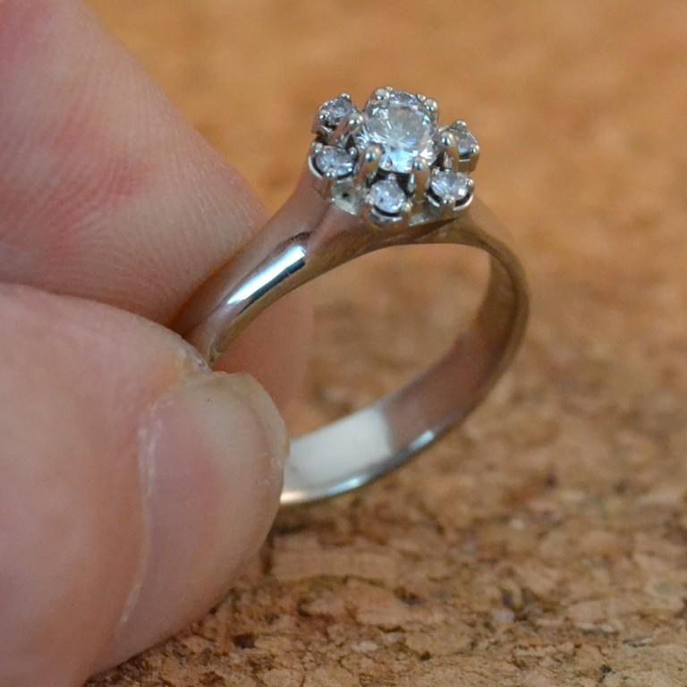 14k white gold and diamond